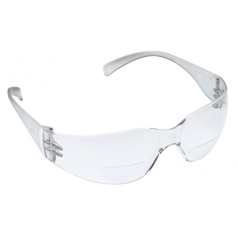3M™ Virtua™ Reader Protective Eyewear 11515-00000-20 Clear Anti-Fog Lens, Clear Temple, +2.5 Diopter 20 EA/Case