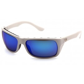 Venture Gear Vallejo White Frame/Ice Blue Mirror AntiFog Lens Safety Glasses 1 / EA
