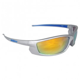Voltage Safety Glasses - Silver Frame, Electric Orange Lens