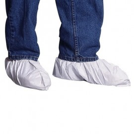DuPont™ TY450S  Tyvek Shoe Covers w/ Elastic Ankle, Serged Seams, Universal Fit, White (1 Pair)