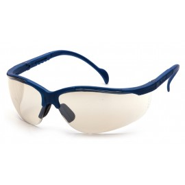 Pyramex Safety - Venture II - Metallic Blue Frame/Indoor/Outdoor Mirror Lens Polycarbonate Safety Glasses - 12 / BX