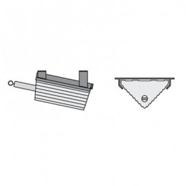 Checkers Horizontal Mouting Bracket-1400 Series Wheel Chock