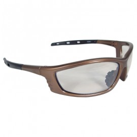 Radians Chaos Safety Glasses - Mocha Frame, Indoor/Outdoor Lens