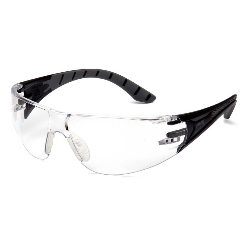 Pyramex Safety - Endeavor Plus - Black-Gray Frame/Clear Lens Polycarbonate Safety Glasses - 12 / BX