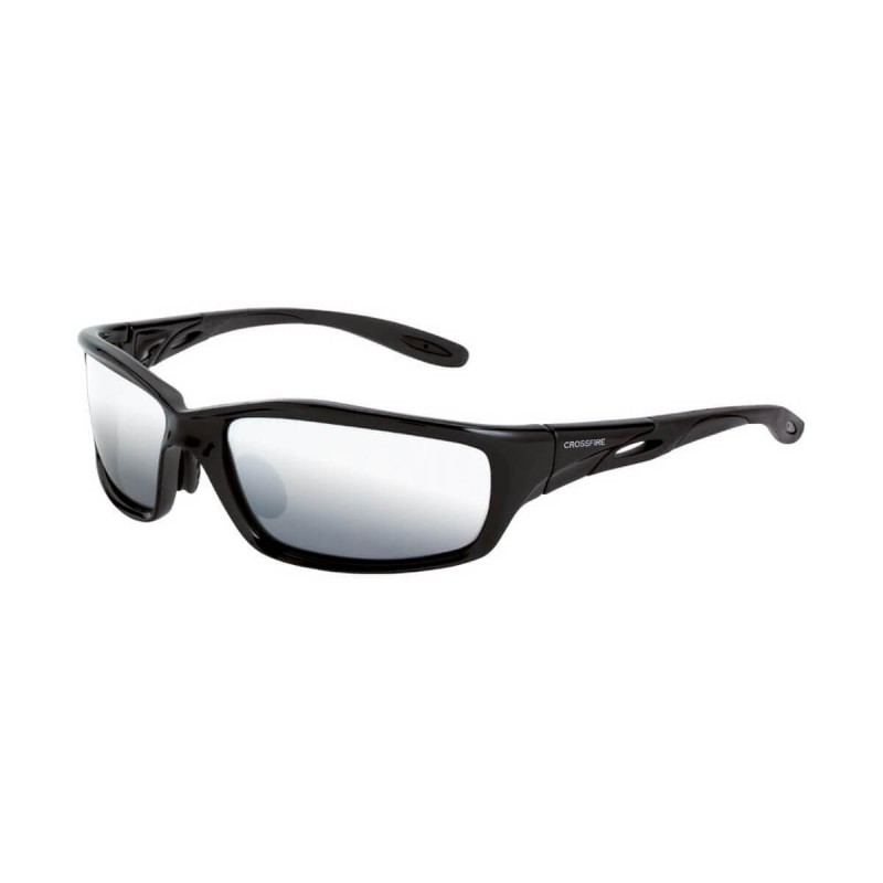 Radians Infinity - Silver mirror lens / Shiny black frame Safety ...