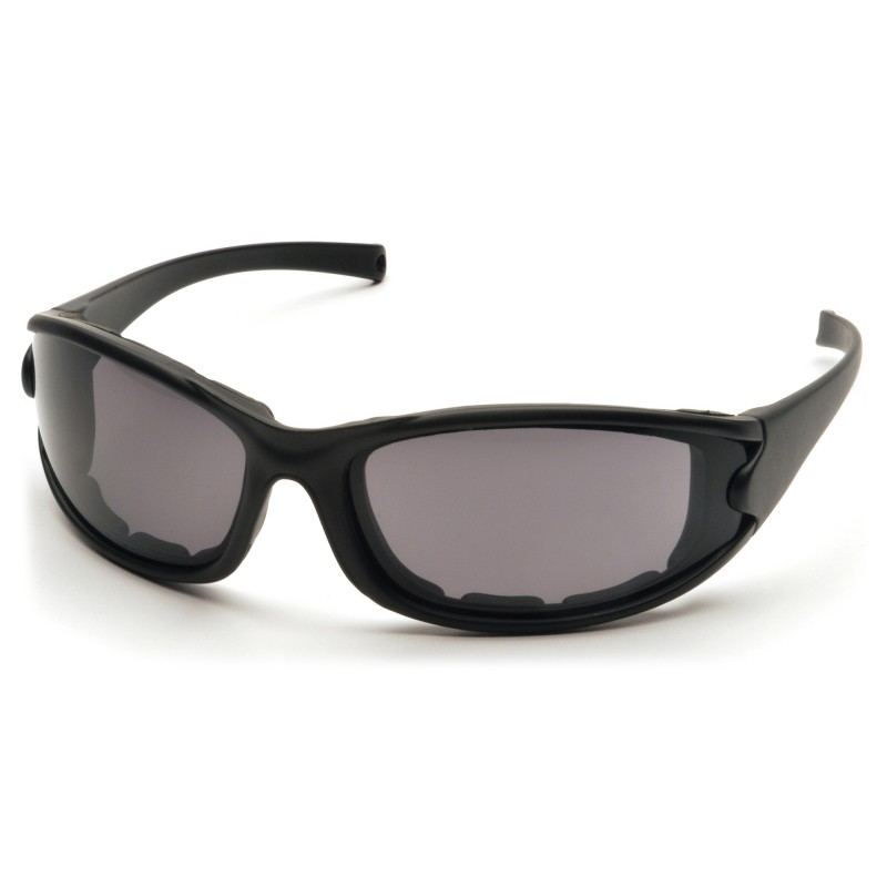 Pyramex  PMXCEL  Matte Black Frame/Gray AntiFog Lens  Safety Glasses  12/BX
