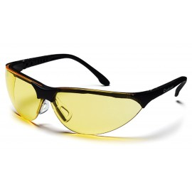 Pyramex Safety - Rendezvous - Black Frame/Amber Lens Polycarbonate Safety Glasses - 12 / BX