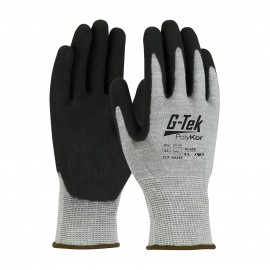 PIP 16-655/S G-Tek Seamless Knit PolyKor Blended Glove with Double Dipped Nitrile Coated MicroSurface Grip on Palm & Fingers Small 6 DZ