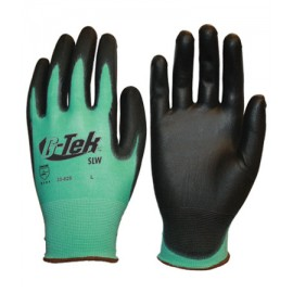 PIP 33-825/S G-Tek Medium Weight Seamless Knit Nylon Glove with Polyurethane Coated Smooth Grip on Palm & Fingers Small 25 DZ
