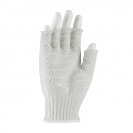 PIP 22-615RHSS Kut Gard Seamless Knit PolyKor Blended Antimicrobial Glove with Silagrip Coating on Palm Half Finger Small 24 EA