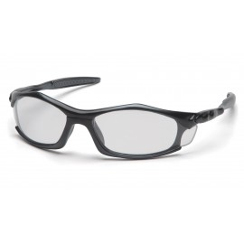 Pyramex Solara - Black Frame/Clear Lens Polycarbonate Safety Glasses - 12 / BX