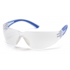 Pyramex  Cortez  Navy Temples/Clear Lens  Safety Glasses  12/BX