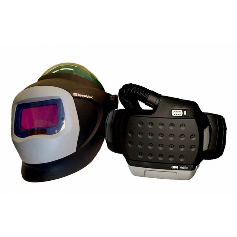 3M™ Adflo™ PAPR with 3M™ Hard Hat L-705SG, 34-0705-SGX, Li Ion Battery, Welding Shield, Wideview Faceshield, ADF 9100X