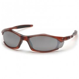 Pyramex Solara Safety Glass - Silver Mirror Lens with Orange Frame