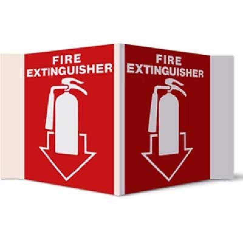 Brooks Fire Extinguisher Arrow Stand-out Sign