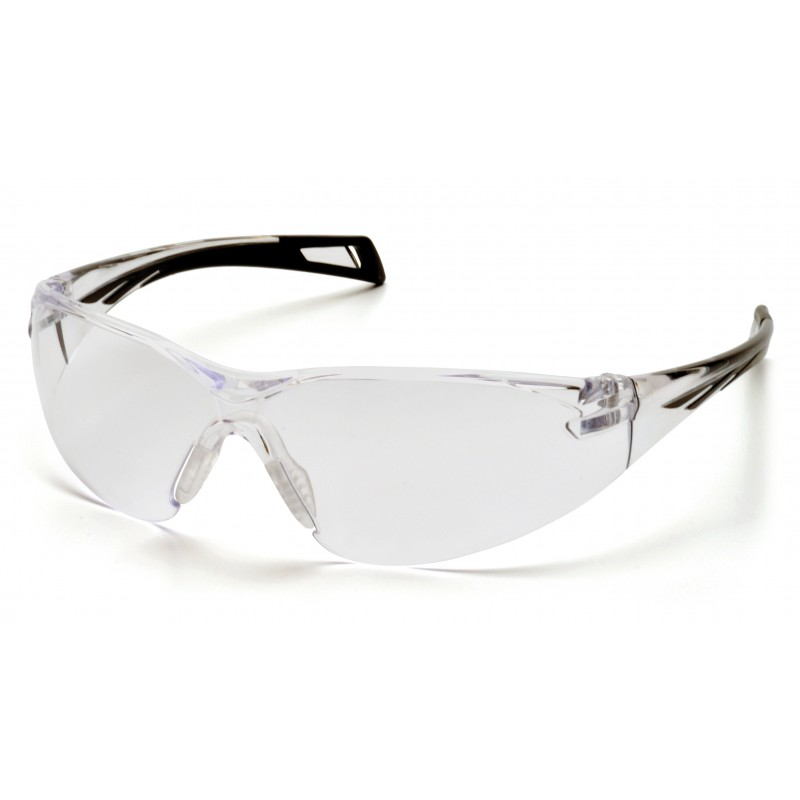 Pyramex Safety - PMXSLIM - Black Temples/Clear Lens Polycarbonate Safety Glasses - 12 / BX