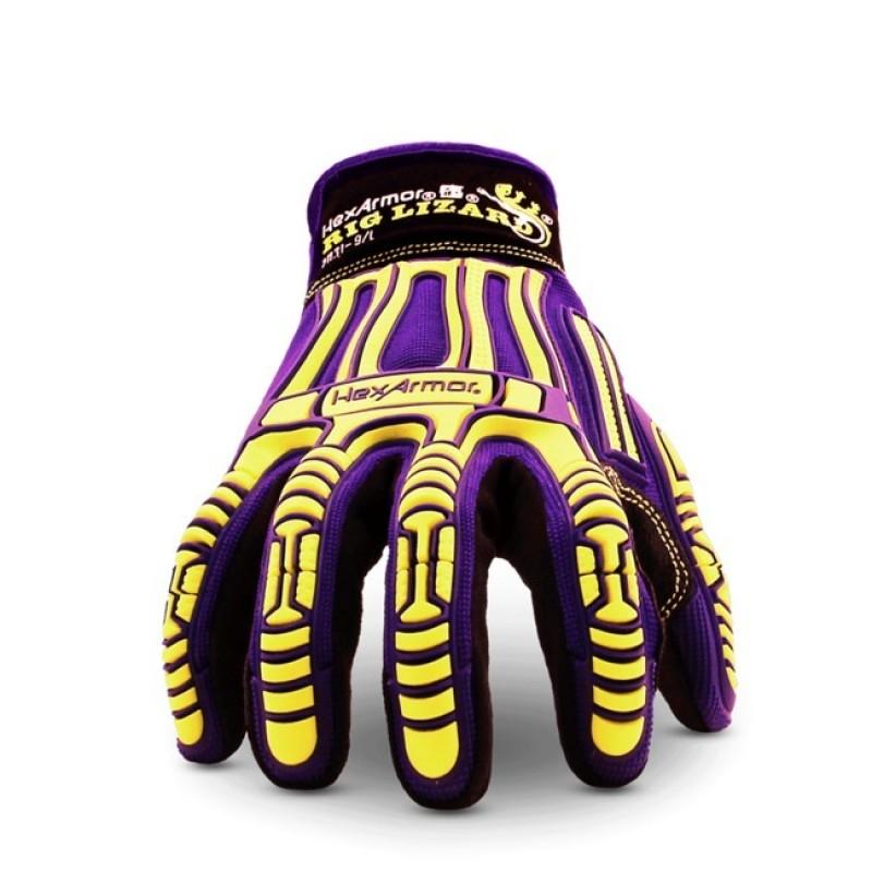 HexArmor Rig Lizard 2031 Impact Resistant Work Gloves Purple  1 Pair