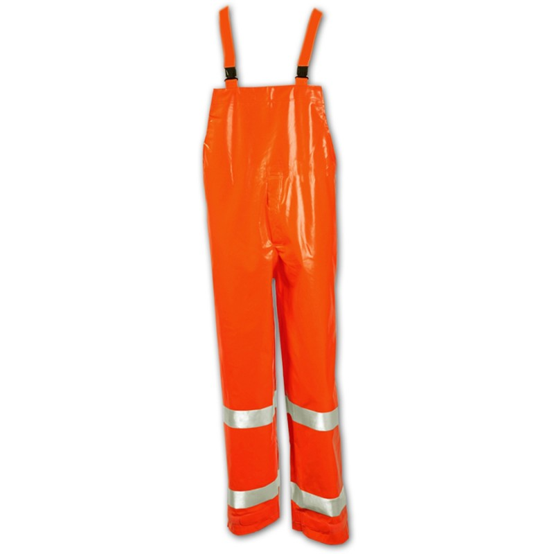 Tingley O42129.5X Electra Overall Fluorescent Orange-Red  Snap Fly Front Silver Reflective Tape