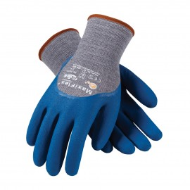 PIP 34-9025/L ATG Seamless Knit Cotton / Nylon / Lycra Glove with Nitrile Coated MicroFoam Grip on Palm, Fingers & Knuckles Large 12 DZ