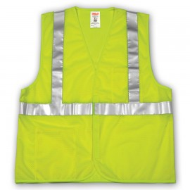 Tingley V70622.S-M Class 2 Vest Fluorescent Yellow-Green Polyester Mesh Hook & Loop