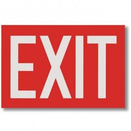 Brooks Self Adhesive Vinyl Exit Sign