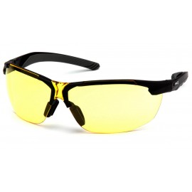 Pyramex  FlexZone  Black Frame/ Amber Lens  Safety Glasses  12/BX