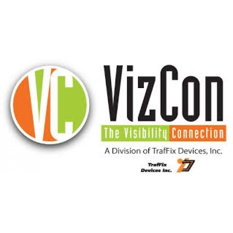 VizCon 15046A-CBYB Cone Bar, 4-6ft Adjustable ABS Black with Yellow Engineer Grade Reflective Sheeting