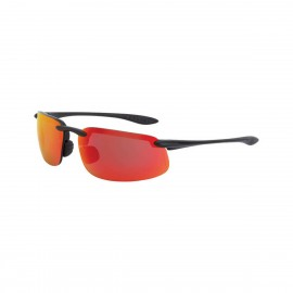 Radians ES4 HD red mirro Matte Black Frame Safety Glasses 12 PR/Box
