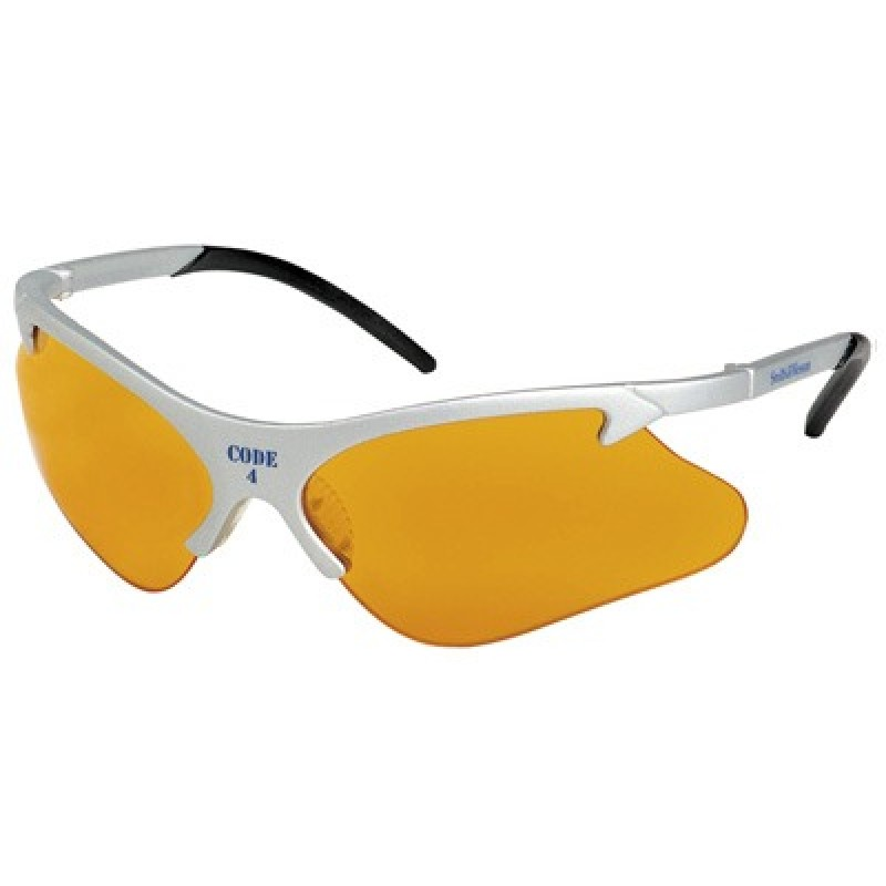 Jackson Safety Smith and Wesson Code 4 Safety Glasses with Platinum Frame Orange Lens 12 Pairs