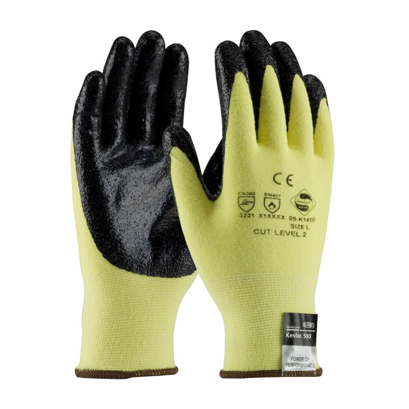 PIP 09-K1450V/XS G-Tek Seamless Knit Kevlar® / Lycra Glove with Nitrile Coated Smooth Grip on Palm & Fingers Vend Ready XS 144 PR