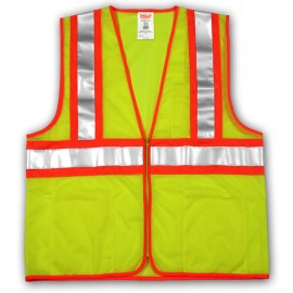 Tingley V70642.S-M Class 2 Vest Fluorescent Yellow-Green Polyester Mesh Zipper