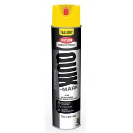 Krylon Quick Mark Tallboy Hi Vis Yellow Solvent Based Inverted Marking Paints | T03821007 12/Case