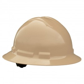 Radians Quartz 6 Point Ratchet Suspension Full Brim Hard Hats  Tan Color  (1 Each)