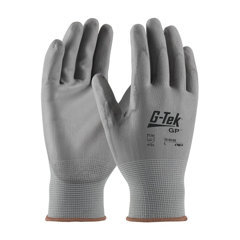 PIP G-Tek 33-G125 NPG Seamless Knit Gloves with Polyurethane Coated Smooth Grip (1 Dozen)