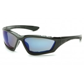 Pyramex  Accurist  Black Padded Frame/Blue Mirror Lens  Safety Glasses  12/BX