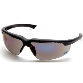 Reatta Safety Glasses with Charcoal Frame and Blue Mirror Lens