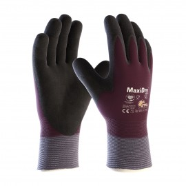 PIP 56-451/L ATG Seamless Knit Nylon/Lycra Glove with Thermal Lining and Double Dipped Nitrile Coated MicroFoam Grip on Full Hand Large 72 PR