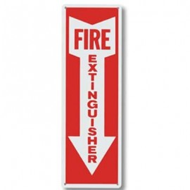 Brooks Fire Extinguisher Arrow Sign - 4 in x 12 in