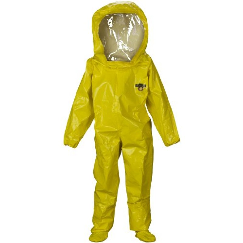 Lakeland ChemMax 4 Encapsulated Suit - 2 Exhaust Ports - Yellow