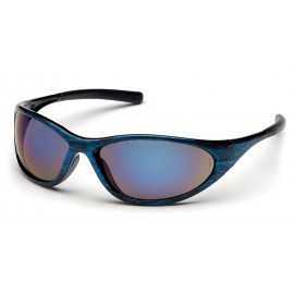 Pyramex Zone II Blue Wood Frame/Blue Mirror Lens (1 Box of 12)