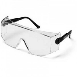 3M™ OX™ 12166-00000-20 Protective Eyewear Clear Anti-Fog Lens, Black Secure Grip Temple