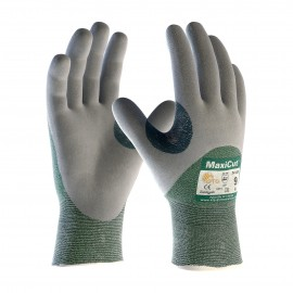 PIP ATG 18-575 MaxiCut Gloves - ANSI A2 EN 3 - 3/4 Coat Nitrile Micro-Foam - Green/Gray Color (1 DZ)