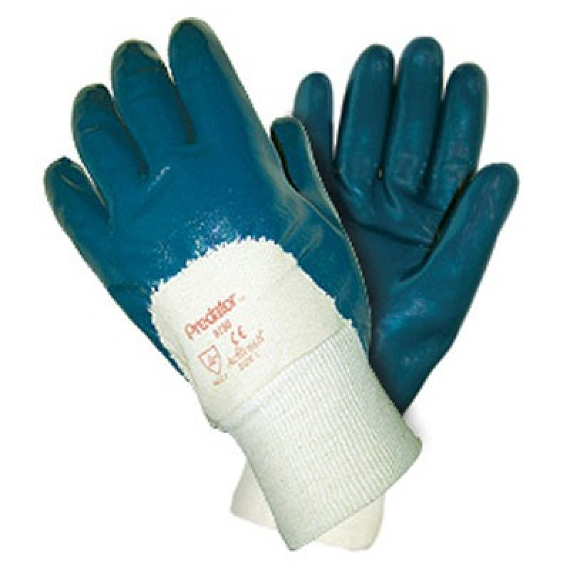 MCR Palm Coated Nitrile Glove-Knit Wrist 12 Pairs