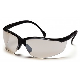 Pyramex Safety - Venture II - Black Frame/Indoor/Outdoor Mirror Lens Polycarbonate Safety Glasses - 12 / BX