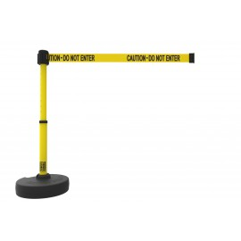"Banner Stakes PL4085 PLUS Barrier Set, Yellow ""Caution-Do Not Enter"""