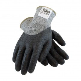 G-Tek CR Ultra Seamless Knit Spun Dyneema / Nylon Glove with Polyurethane Coated Smooth Grip on Palm, Fingers & Knuckles