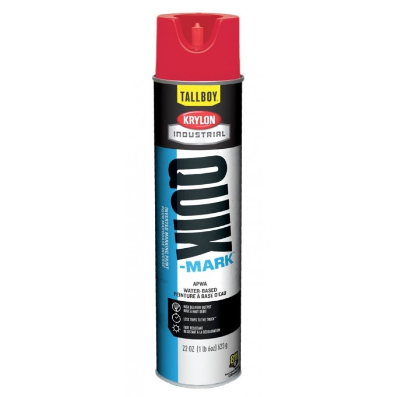 Krylon QUIK MARK TallBoy Water based Inverted Marking Paints 12 Cans Red