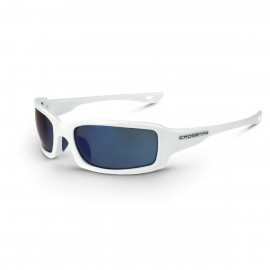 Radians M6A Blue Mirror White Safety Glasses White 12 PR/Box