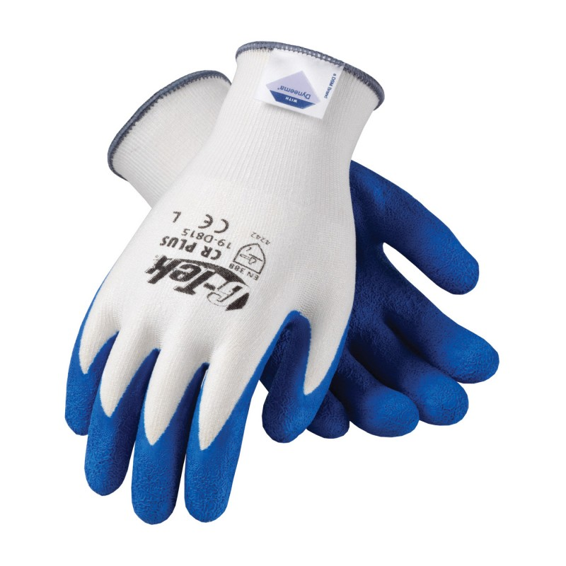 G-Tek CR Ultra Seamless Knit Dyneema Glove with Latex Coated Crinkle Grip on Palm & Fingers - Light Weight
