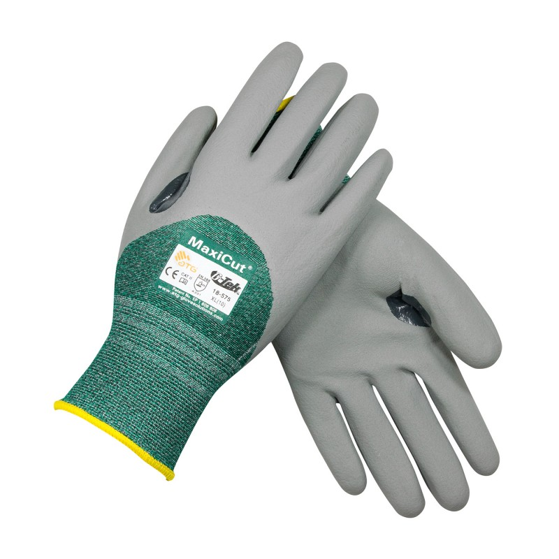PIP 18-575/XL ATG Seamless Knit Engineered Yarn Glove with Nitrile Coated MicroFoam Grip on Palm, Fingers & Knuckles XL 6 DZ